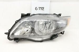 OEM HEAD LIGHT HEADLIGHT LAMP TOYOTA NEW COROLLA 09 10 LH BLACK chip mount