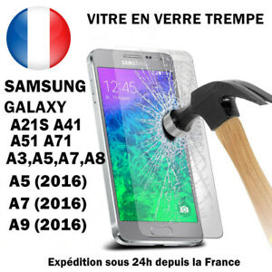 Vitre Samsung A21s A31 A41 42 A51 A10 A20e A6 J6 S7 verre trempé protection film