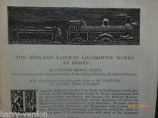 Midland  Railway Locomotive Works Derby Antique Victorian 1892 Dunster Castle