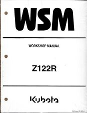 Kubota Z122R  Zero Turn Mower Workshop Repair Manual 9Y111-12011