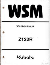 Kubota Z122R  Zero Turn Mower Workshop Repair Manual 9Y111-12011