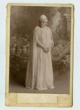 Vintage Cabinet Card Stage Actress Dressed Greek Style Reed Photo Mobile Ala