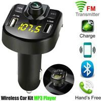 Dual USB Bluetooth4.1 Car Kit Ladegerät FM Transmitter Player MP3 Neu K0D5
