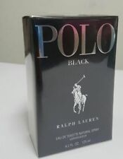 Polo Black by Ralph Lauren 4.2 OZ EDT 125 ML For Men Authentic perfume New.