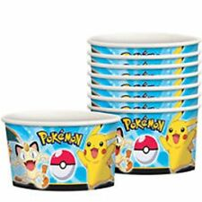 Pok'emon pokemon Nintendo paper ice cream treat fruit cups 8 ct party supplies