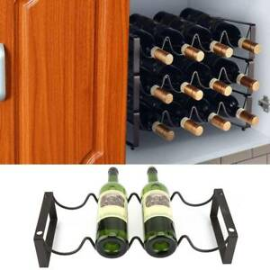 Stackable Wine Rack 4 Bottles Champagne Home Bar Accessory Metal Free Standing