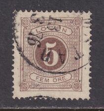 Sweden J3 Vf Used 1874 5o Brown Postage Due Stamp Perf 14 Scv $35.00