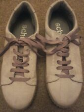 Schuh grey Suede/Leather Platform Pumps shoes Lace Up Size 3 eu36 creeper style