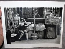1960'S ARTISTIC PHOTO 8X10 LITTLE GIRL SITTING BY GARBAGE LOWER EAST SIDE NYC