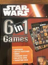 Disney Star Wars 6 in 1 Games Collection Dominoes Battle Matching Bingo NIB