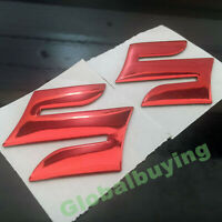 "Motorcycle Red Emblem Badge 3D Decal Tank Wheel Logo ""S"" Sticker for Suzuki"
