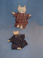 2 Kitty Cats Crafty Primitive Country Rustic 4th of July Figure Stuffed Dolls