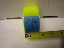 """NEON YELLOW  Reflective   Conspicuity  Tape 1-1/2"""" x 25 feet"""