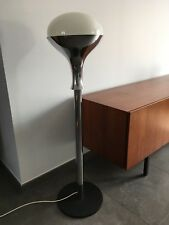 Lampadaire chrome opaline année 70 vintage floor lamp Italian glass chrome 1970