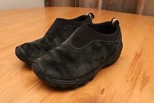 Merrell Orbit Moc Black Mens Slip On Suede Casual Walking Shoes Size 6.5