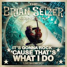 """BRIAN SETZER """"IT'S GONNA ROCK 'CAUSE THAT'S WHAT I DO"""" CD STRAY CATS ROCKABILLY"""