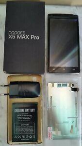 Doogee X5 MAX PRO usato per uso riparazione o pezzi di ricambio + accessori.