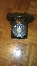Vintage ITT Chocolate Brown Rotary Dial Desk Phone Telephone