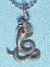 King Cobra  Snake Pewter Pendant Mens Boys Womens Girls  CHAIN NECKLACE  PC0416