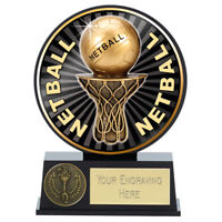 Vibe Netball Trophy 12 cm,  FREE Engraving up 30 Letters PK199