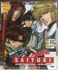 Anime DVD: Saiyuki + Saiyuki Reload + Saiyuki Gunlock (3 IN 1)_ENG DUB & Sub_R0