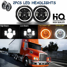 "7"" LED Headlights Hi Low Beam Lamp For Freightliner Century Class Pre 2005 Model"