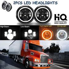 "7"" LED Headlights Hi Low Beam Lamp For Freightliner Century Class Pre 2005 Model"