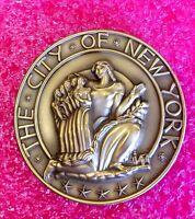 To Mayor of Tel-Aviv /New York City Bronze Medal Skyscraper Rockefeller Center