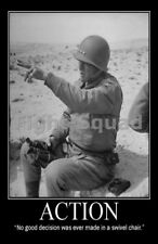 WW2 Picture Photo General George Patton quote about action 2161