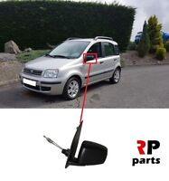FOR FIAT PANDA 2003 - 2009 NEW WING MIRROR MANUAL BLACK LEFT N/S LHD