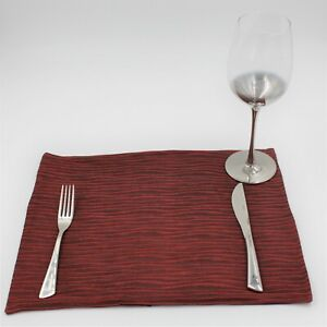 Table placemats made from a Cranberry fabric, Double sided, 38cm x 32cm