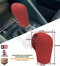 UNIVERSAL AUTOMATIC CAR DSG SHIFT GEAR KNOB COVER PROTECTOR RED–Nissan 1