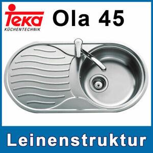 Designspüle Leinenoberfläche Einbauspüle Küchenspüle Spülbecken Spüle Ola45 Teka