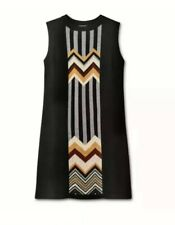 Missoni for Target Zig Zag Black Patchwork Sleeveless Sweater Dress Size L Large