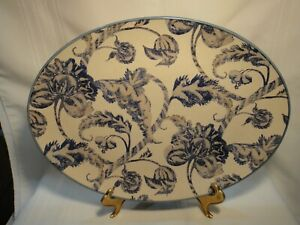 NEW Williams Sonoma LANCASTER Palampore SERVING Oval Platter 14.5 x 10.75
