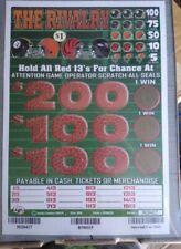 Winning All Instant window Tickets! $225 profitpulltab steelers browns bengals
