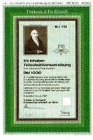Letzte Trinkaus & Burkhardt Bank Düsseldorf  Essen hist DM Anleihe 1990 HSBC NRW