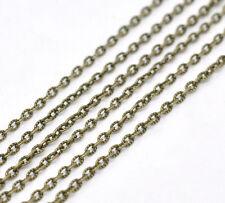 10m anelli catena collana Statement metraggio Colori Bronzo 2,5 x 4 mm