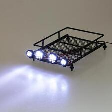 Austar Roof Luggage Rack with LED Light Bar for 1/10 1/8 RC Cars Rock PW4M