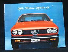 Alfa Romeo Alfetta GT Sales Brochure Book 1975 ~ Original ~ Nice