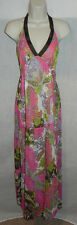 Julies Closet Dress Medium Womens Multi Color Halter NWT