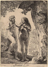 Rembrandt Etching Reproductions: Adam and Eve in the Garden: Fine Art Print