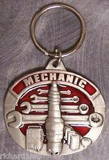 Pewter Key Ring Tradesman Auto Mechanic NEW