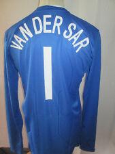 Holland 2008-2009 Player Van Der Sar Blue Football Shirt Size Large /she