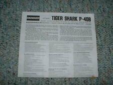 Monogram 1/72 Tiger Shark P-40B Instructions