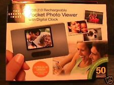 Pocket Photo Viewer Sharper Image USB 2.0 Rechargeable