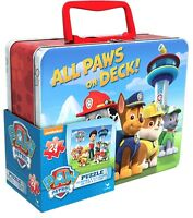 """All Paws on Deck Paw Patrol Puzzle in Tin, 24 Pieces (8"""" x 6"""" x 3"""") Large"""