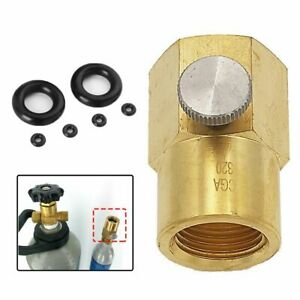 Bleed Valve TR21-4 to CGA320 CO2 Adapter Cylinder Refill Adaptor For Sodastream