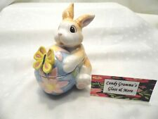 "Fitz & Floyd Essentials Easter Bunny ""Painting Easter Eggs"" Trinket Box"