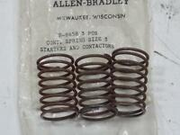 LOT OF 3 NEW ALLEN BRADLEY B-8658 CONTACT SPRINGS FOR SIZE 3